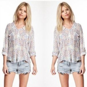 Free People Easy Rider Geometric Top Size Medium